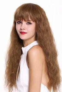 Wig Women's Wig Long Frizzy Curly Fringe Dark Blonde Red Blonde Copper Blonde