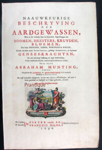 1696,RARE MUNTING ABRAHAM WITH ORGINAL HAND COLOR FOLIO TITLE PAGE U43