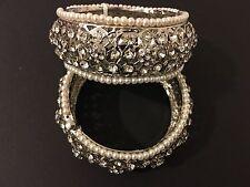 Indian/ Pakistani Hyderabadi Jewellery  Bangles/Kara Pair silver Finish