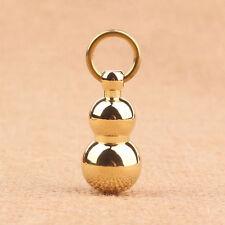 Pure Brass Gourd Car Keychain Pendant Solid Brass Auspicious Keychain