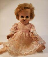 """Vintage Madame Alexander Baby Doll. Kathy Drink N' Wet. 1950's 15"""" Red Hair"""