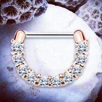 Ella | TITANIUM Septum Ring Rose Gold Septum Clicker Daith Piercing Cartilage