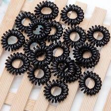 fil élastique cheveux bandeau téléphone noir - taille moyenne - lot de 5 pièces