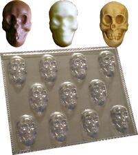 Nuevo Pequeño Calaveras Halloween Chocolate Jabón Cera Molde Molde 11 cavidades Denny Craft