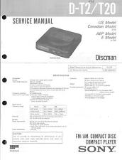 Sony Original Service Manual für D-T2 / T20