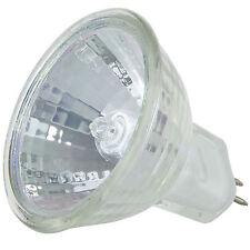 (1) MR11 12V 10 Watt Flood Halogen light Bulbs 10W 12-Volts Cover GU4 JCR 30°