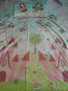 Girls Fairies Princess Fairy Duvet Cover Set Cot Bed Toddler Bed Pillowcase