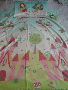 Girls Fairies Princess Fairy Duvet Cover Set Cot Bed Toddler Bed Pillowcase