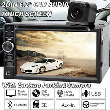 2Din Car Stereo Radio SD/USB/AUX Remote Control Head Unit Player + Rear Camera