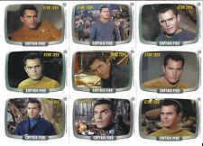 Star Trek TOS 40th Anniversary Series 1 Captain Pike 9 Card Set CP1 - CP9