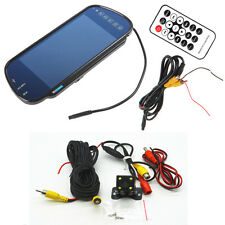 "7"" Bluetooth MP5 Car Rearview Mirror Monitor+ 4 LEDs Night Vision Backup Camera"