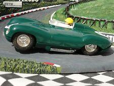 SCALEXTRIC années 1960 JAGUAR D TYPE Vert #2 C60 1:32 Slot utilisé carton