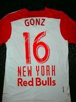 Red Bull New York City NYC Adidas JERSEY SZ: M MLS SOCCER FOOTBALL USA # 16 GONZ
