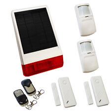 Inalámbrica Casa Solar ladrón intruso alarma Pir autocaravana Caravan Wifi No Gsm