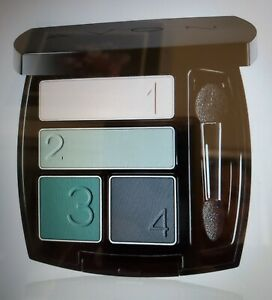 AVON TRUE COLOR  MATTE EYESHADOW QUAD/SOFT NUDE, MERRY MINT/JADE/SMOKED TEAL