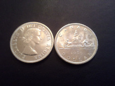 Canadian Silver Dollar LOT OF 2 -Random Year 1958-1967 A/U .800 Fine Silver