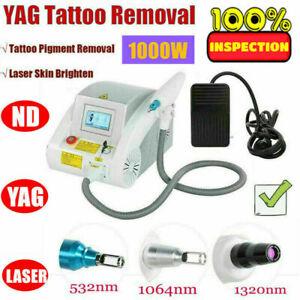 Pro Q Switch ND YAG LASER Tattoo Removal Eyebrow Callus Removal Machine 220V UK