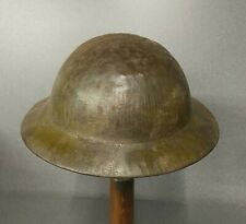WW2 BRITISH ARMY STEEL HELMET BOYS CAMOUFLAGE  ORIGINAL
