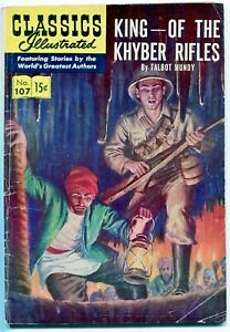 Classic Illustrated Comics #107, King-Of The Khyber Rifles - $0.15, HRN118 - VG+