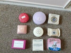 Bundle x 9 luxury soaps L'occitane Yardley Coty Heyland Whittle Punch Roth BN