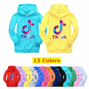 Kids Boys Girls Tik Tok Hoodies Pullower Casual Long Sleeve Jumper Sweater Tops