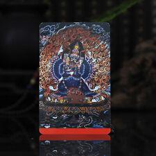 "3.4"" Tibet Tibetan Buddhism Exquisite painting Amulet thangka Yamantaka"
