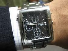VERY RARE SEIKO 7T32-5A70 BLACK FACE CHRONOGRAPH BELL ALARM  MONACO LOOKALIKE
