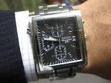 Molto RARO SEIKO 7T32-5A70 Black Face Cronografo Bell Allarme MONACO SOSIA