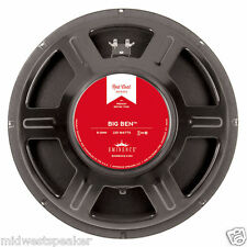 "Eminence BIG BEN 15"" Guitar Speaker 8 ohm Redcoat Series - FREE SHIPPING!"