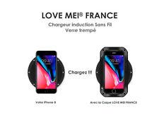 Chargeur induction Sans Fil  en verre trempé - Wirless - LOVE MEI FRANCE