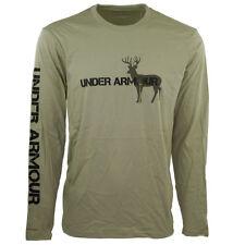 Under Armour Men's Heatgear Graphic Deer L/S T-Shirt Olive 3XL
