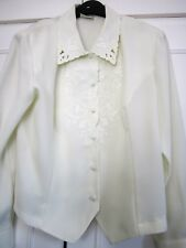 Eastex Cream embroidered Blouse size 14 Superb condition Stunning