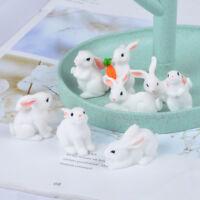 Mini rabbit craft figurine garden ornament miniature fairy garden decor d wr