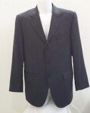 giacca uomo pura lana fresco di lana grigio gessata Mario Cruciani taglia 52