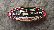 1976 Hannover Messe USSR KA-26 Kamov Hoodlum Soviet Light Helicopter Pin Badge