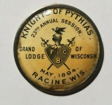 Antique 1894 Knights of Pythias Grand Lodge of Michigan Medal Racine