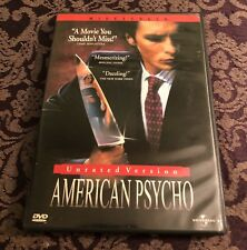 American Psycho Unrated Version Dvd Widescreen Christian Bale Brett Easton Ellis