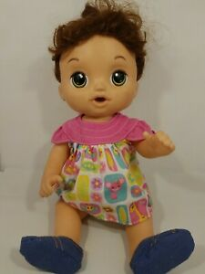 2016 Hasbro  Baby Alive Talking Checkup Doll Talks Crys Giggles Soft Face Moves
