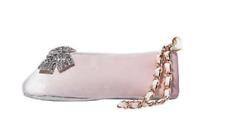 $78 BETSEY JOHNSON Light Pink Blush Velvet Ballet Slipper Wristlet Bag Clutch