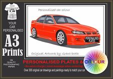 2000-2002 HSV VX A3 ORIGINAL PERSONALISED PRINT POSTER CLASSIC RETRO CAR