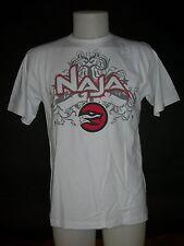 Tee shirt à manches courtes, NAJA, (Naja1) - Blanc, rouge et gris en M, Neuf