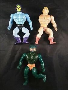 Masters of the Universe He-Man Skeletor Mer-Man 1981 Vintage Rare MOTU