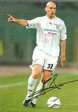 Jaap Stam Lazio autograph signed 12 x 8 inch authentic football photo SS889