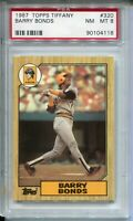 1987 Topps Tifffany Baseball 320 Barry Bonds Rookie Card RC Graded PSA Nm MINT 8