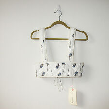 NWT Rachel Comey Floral Print Silk Quilted Corset Harness Bustier Small