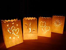Luminaria Lichttüten Herz Glücksklee Sonne Deko Leuchttüten Hochzeit Geburtstag
