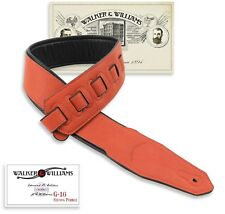 Walker & Williams G-16 Sienna Brown Guitar Strap With Padded Glove Leather Back