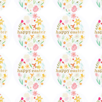 Easter stickers gift present easter egg seals labels