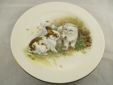 Hornsea Pottery Country Scene Plate - Cute Rabbit and Kitten  Collectable