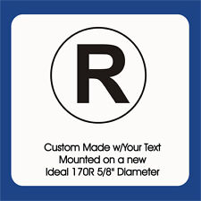 "Registered Symbol w/border, Trodat / Ideal Self Inking 170R 5/8"" Round, 1 Color"